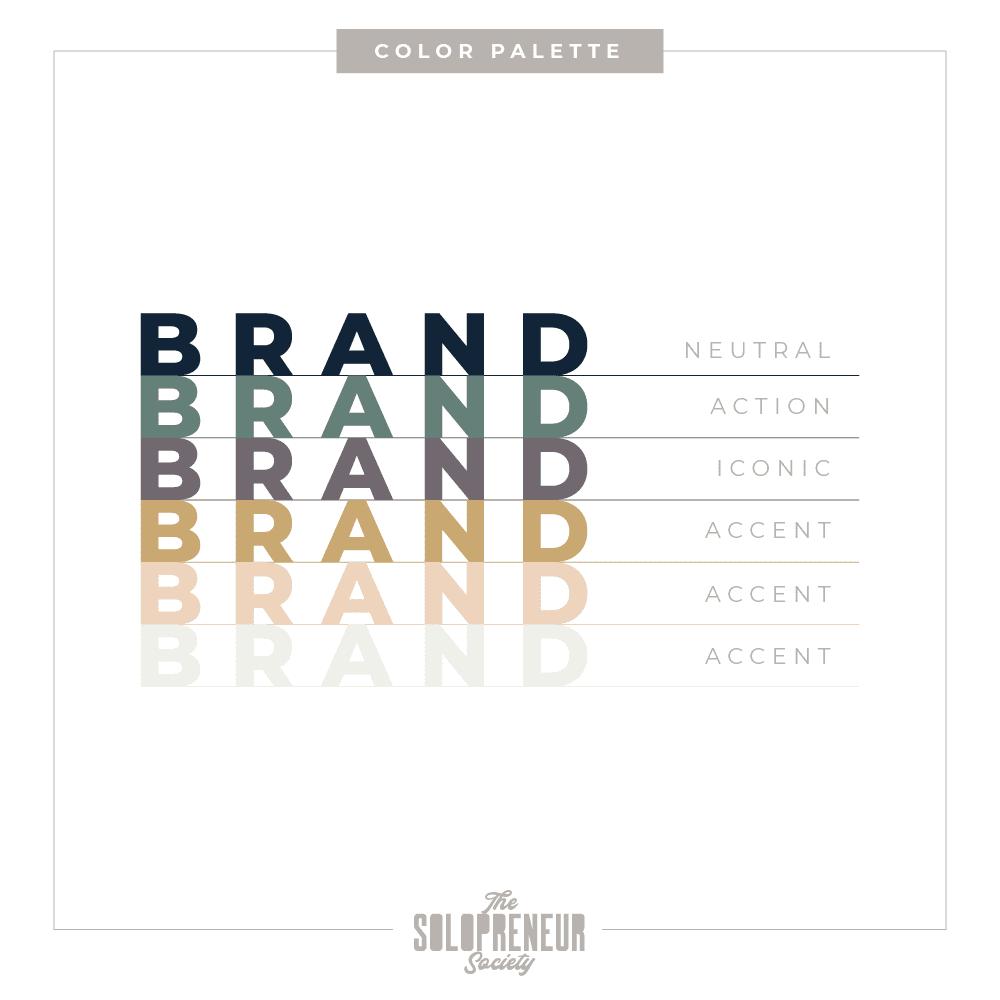 April Bonifatto Brand Identity Secondary Color Palette