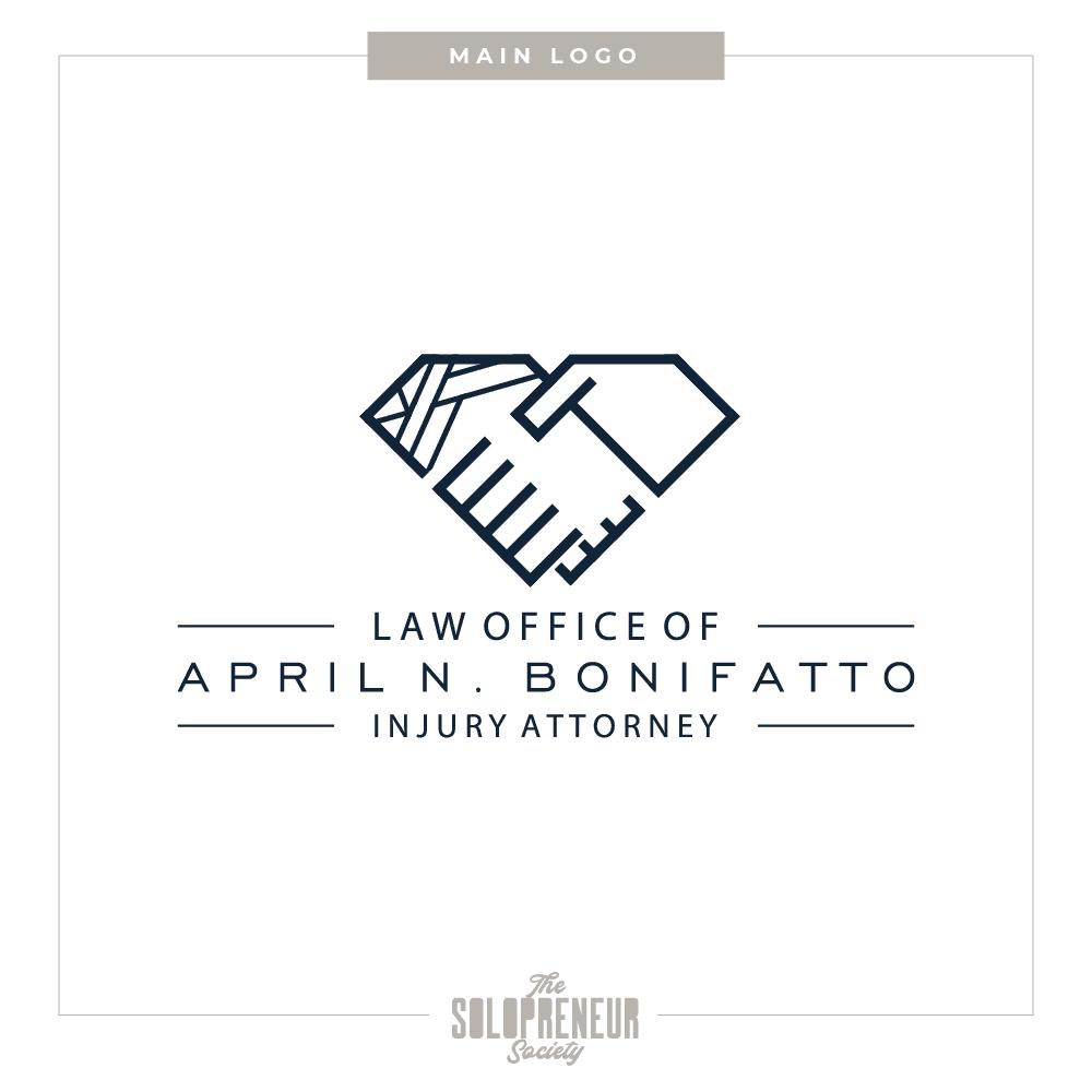 April Bonifatto Brand Identity Secondary Logo Design