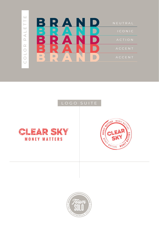 Clear Sky Money Matters Brand Identity Design