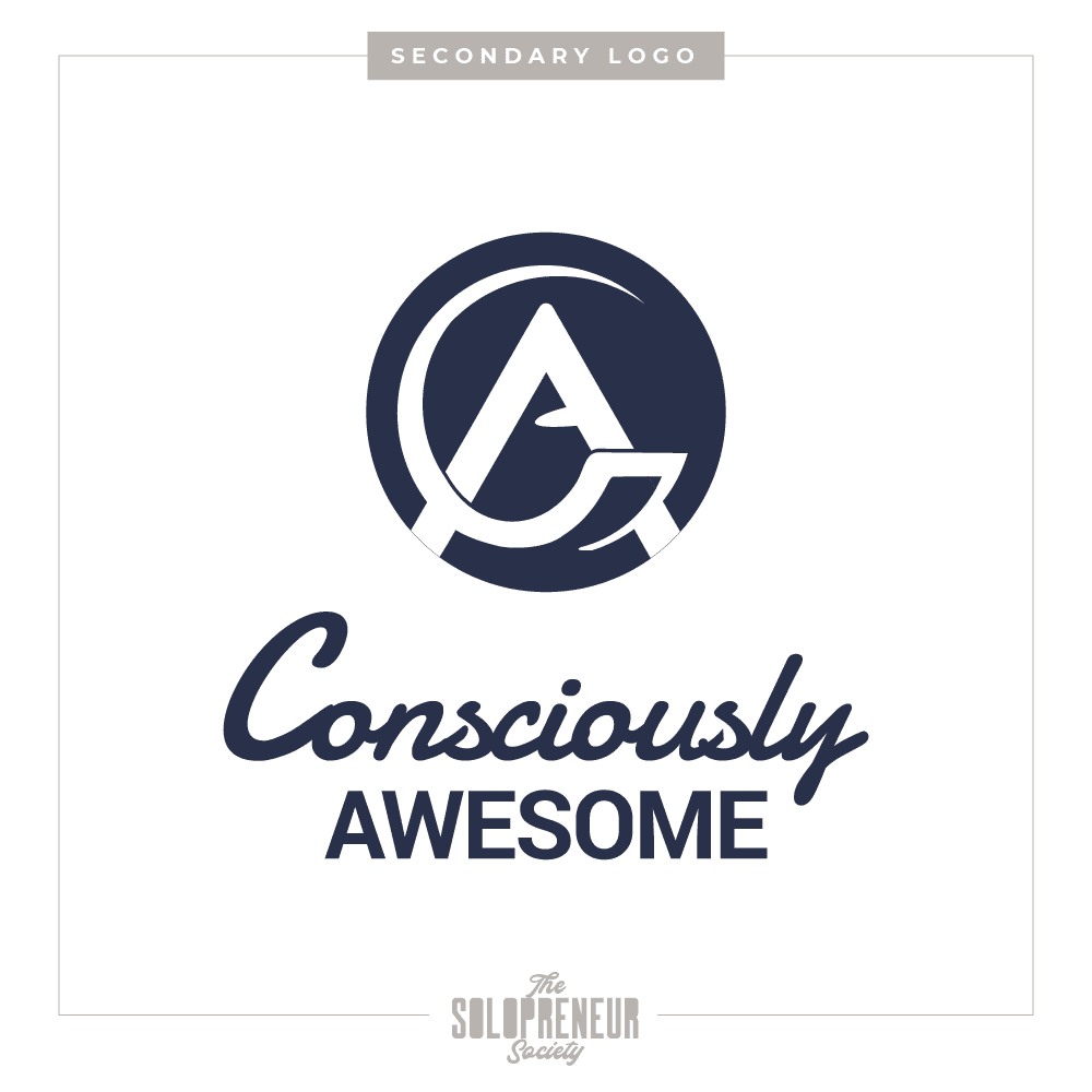 Consciously Awesome Logo Design