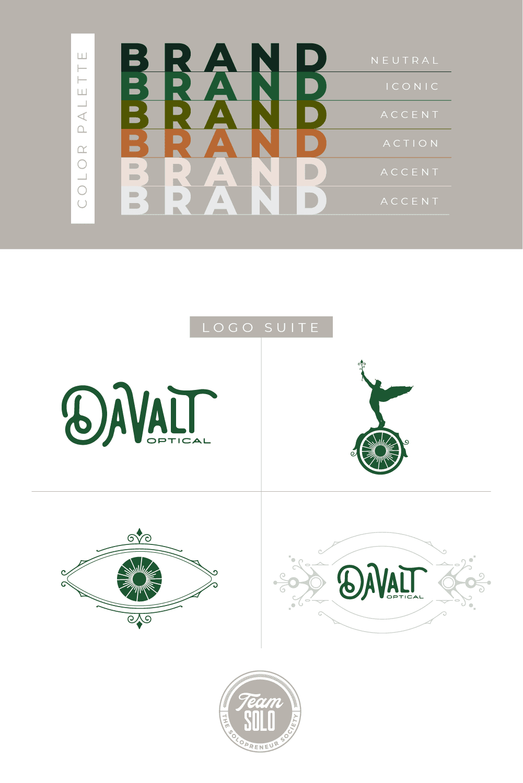 Davalt Optical Brand Identity Design