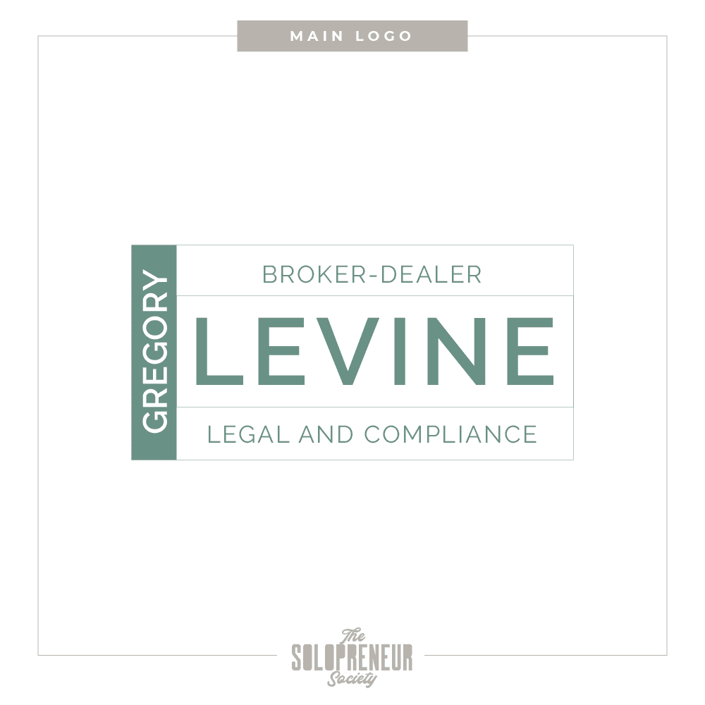 Gregory Levine Brand Identity Main Logo Design