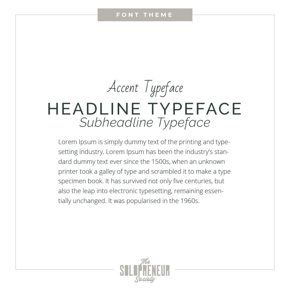 Gregory Levine Brand Identity Font Theme