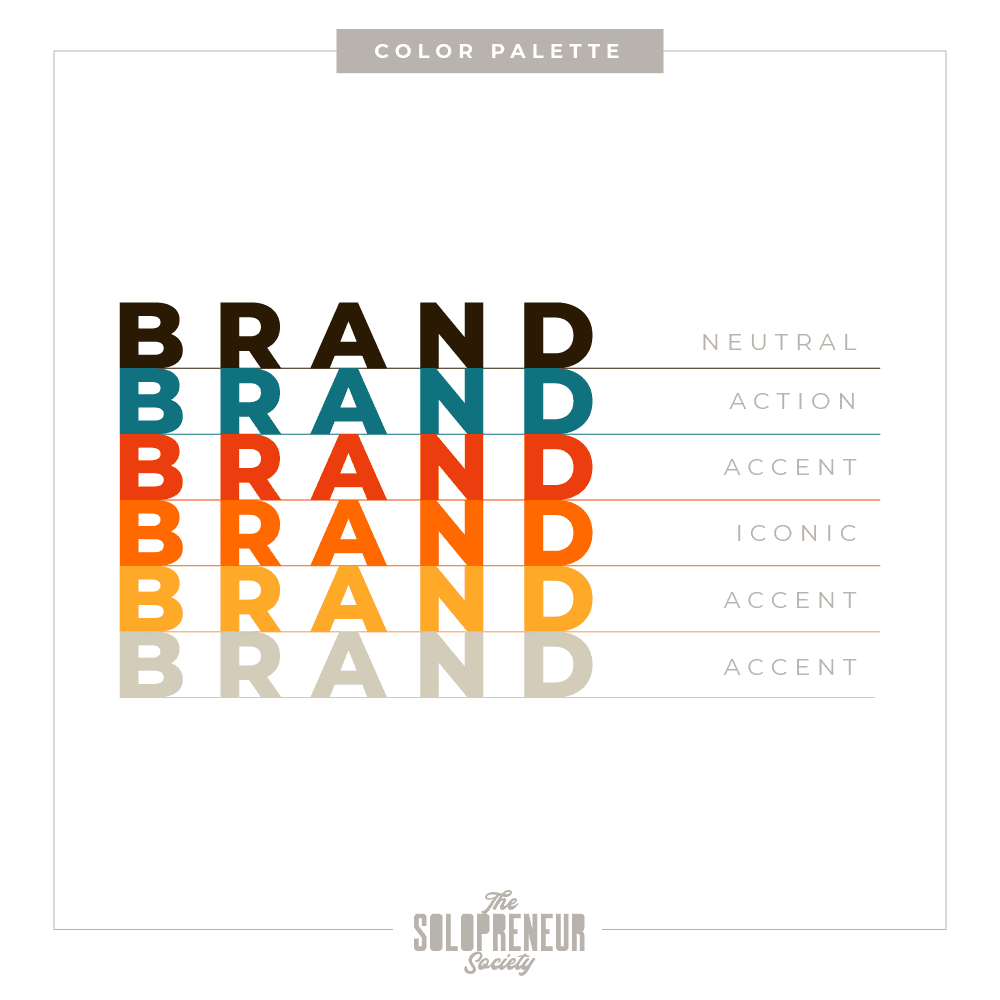 Happily Married Brand Identity Color Palette
