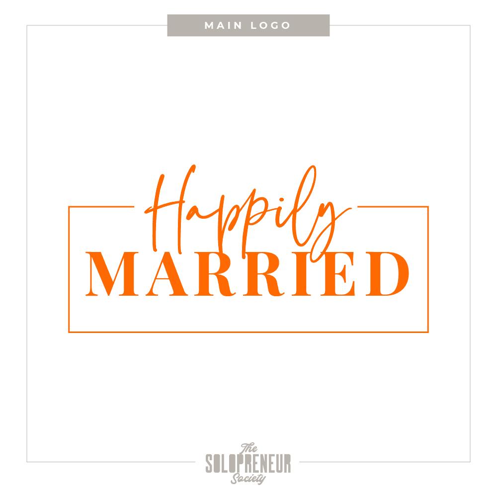 Happily Married Brand Identity Main Logo