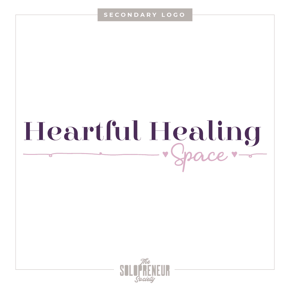 Heartful Healing Space Brand Identity Secondary Logo
