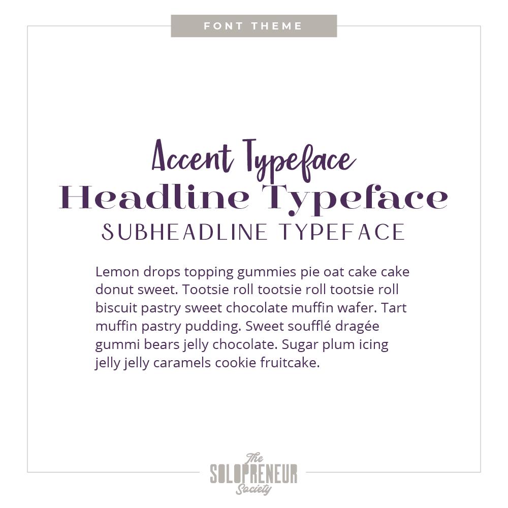 Heartful Healing Space Brand Identity Font Theme