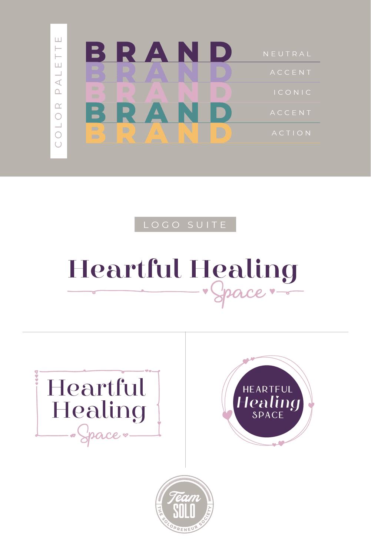 Heartful Healing Space Brand Identity Design