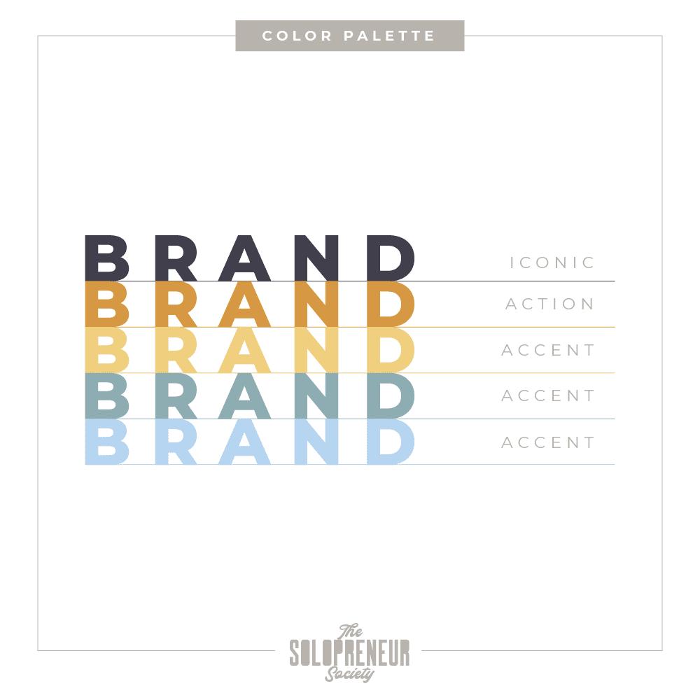 Hub + Company Brand Identity Color Palette
