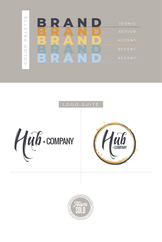 Hub+Company Brand Identity Design