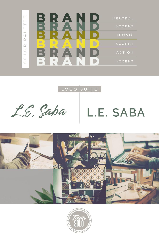 L.E. Saba Brand Identity Design