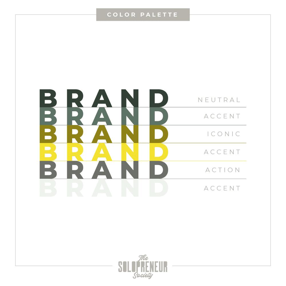 LE Saba Brand Identity Branding Color Palette