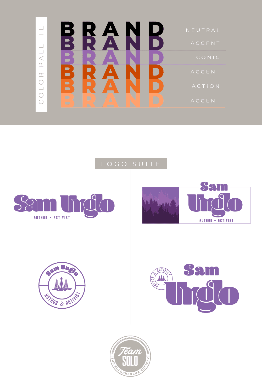 Sam Unglo Logo Suite Design