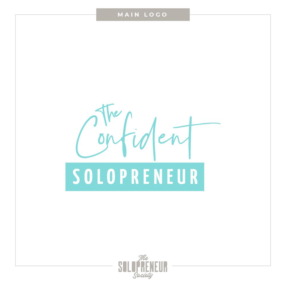 The Confident Solopreneur Brand Identity Main Logo