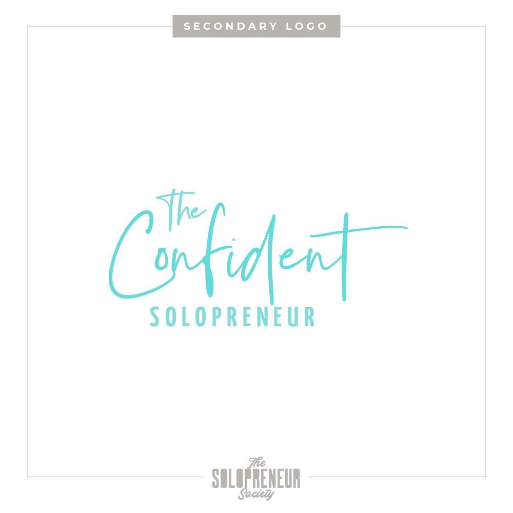 The Confident Solopreneur Brand Identity Secondary Logo