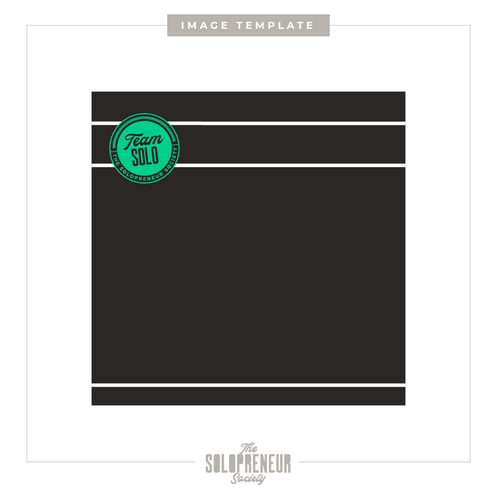 The Solopreneur Society Brand Identity Image Template