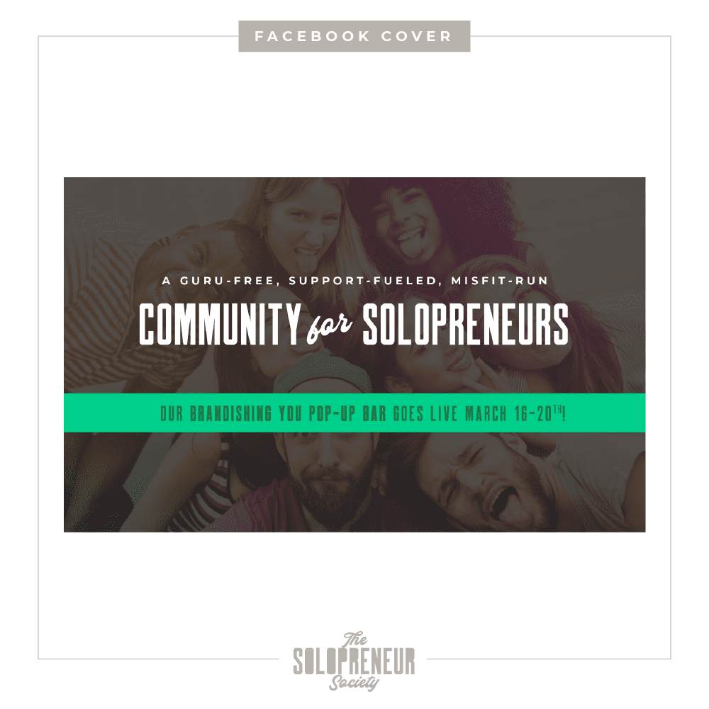 The Solopreneur Society Brand Identity Facebook Cover