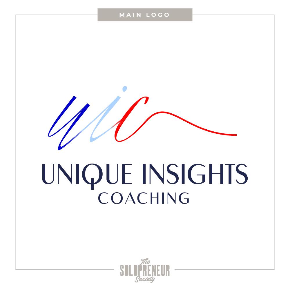Unique Insights Brand Identity Logo Design