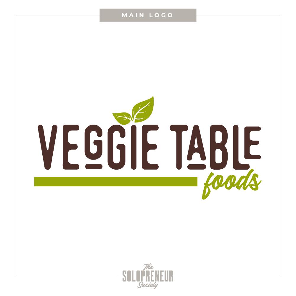 Veggie Table Foods Brand Identity Logo
