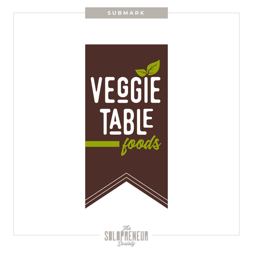 Veggie Table Foods Brand Identity Submark Logo