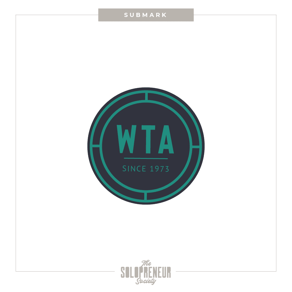 WTA Brand Identity Submark Logo