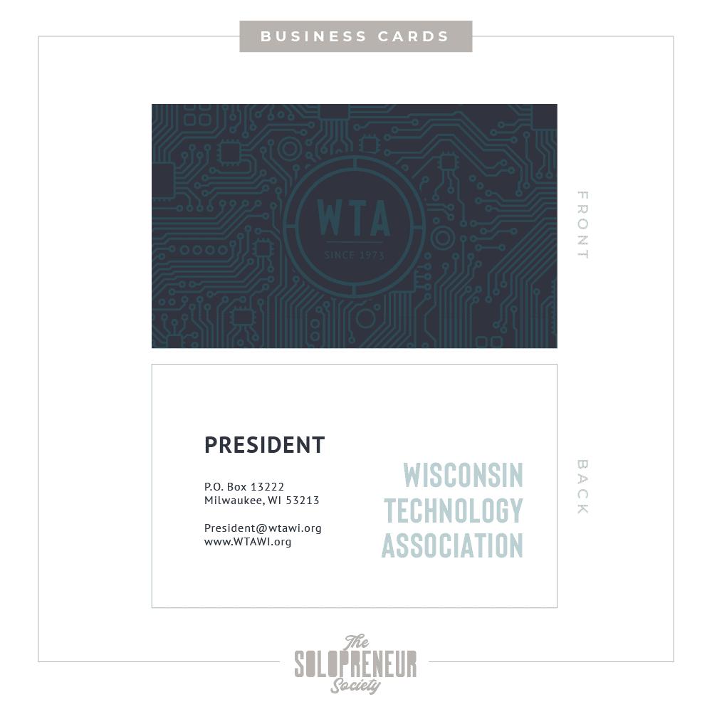 WTA Brand Identity Business Cards