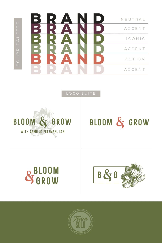 Bloom & Grow Brand Identity Design