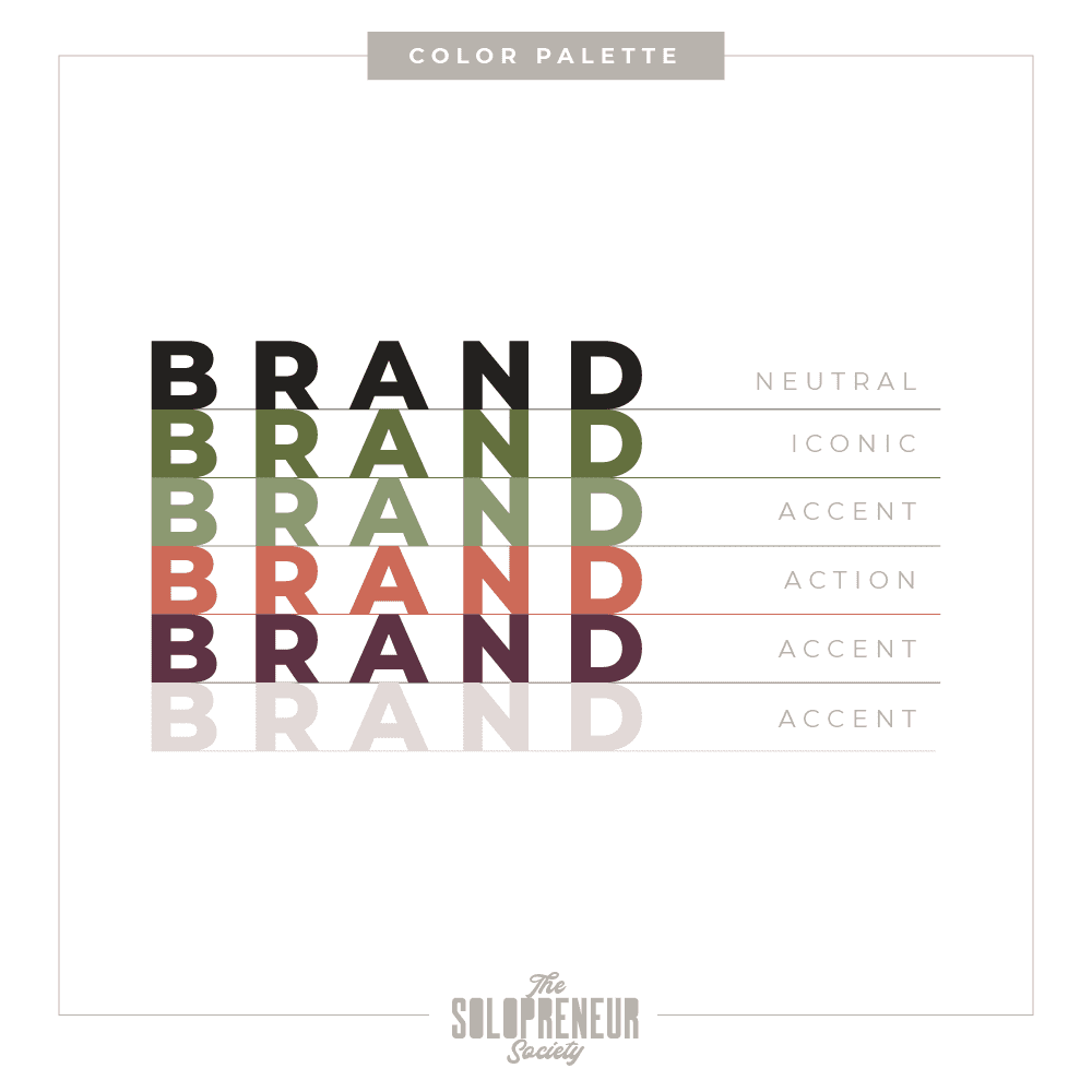 Bloom & Grow Brand Identity Color Palette