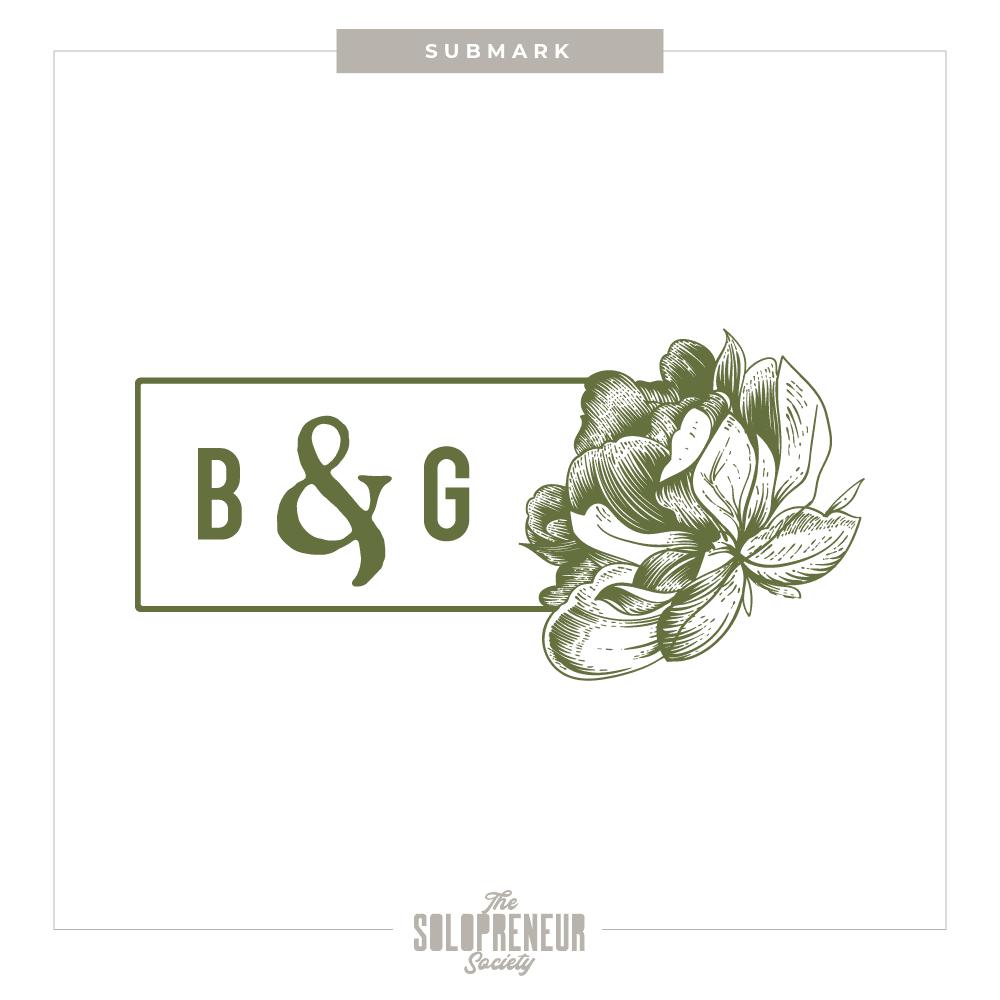 Bloom & Grow Brand Identity Submark Logo