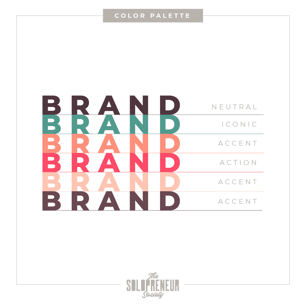 Harper Therapy Brand Identity Color Palette