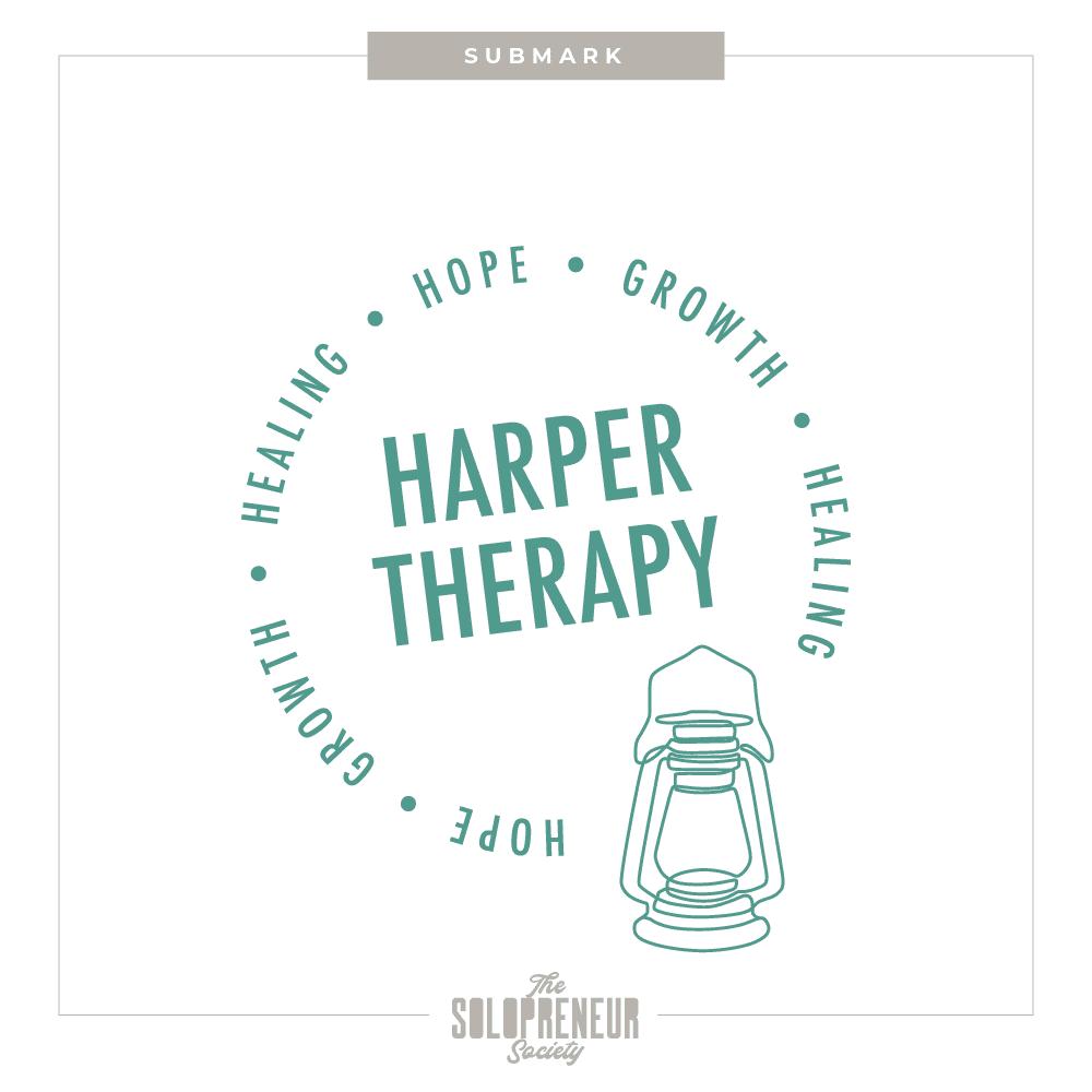 Harper Therapy Brand Identity Submark Logo
