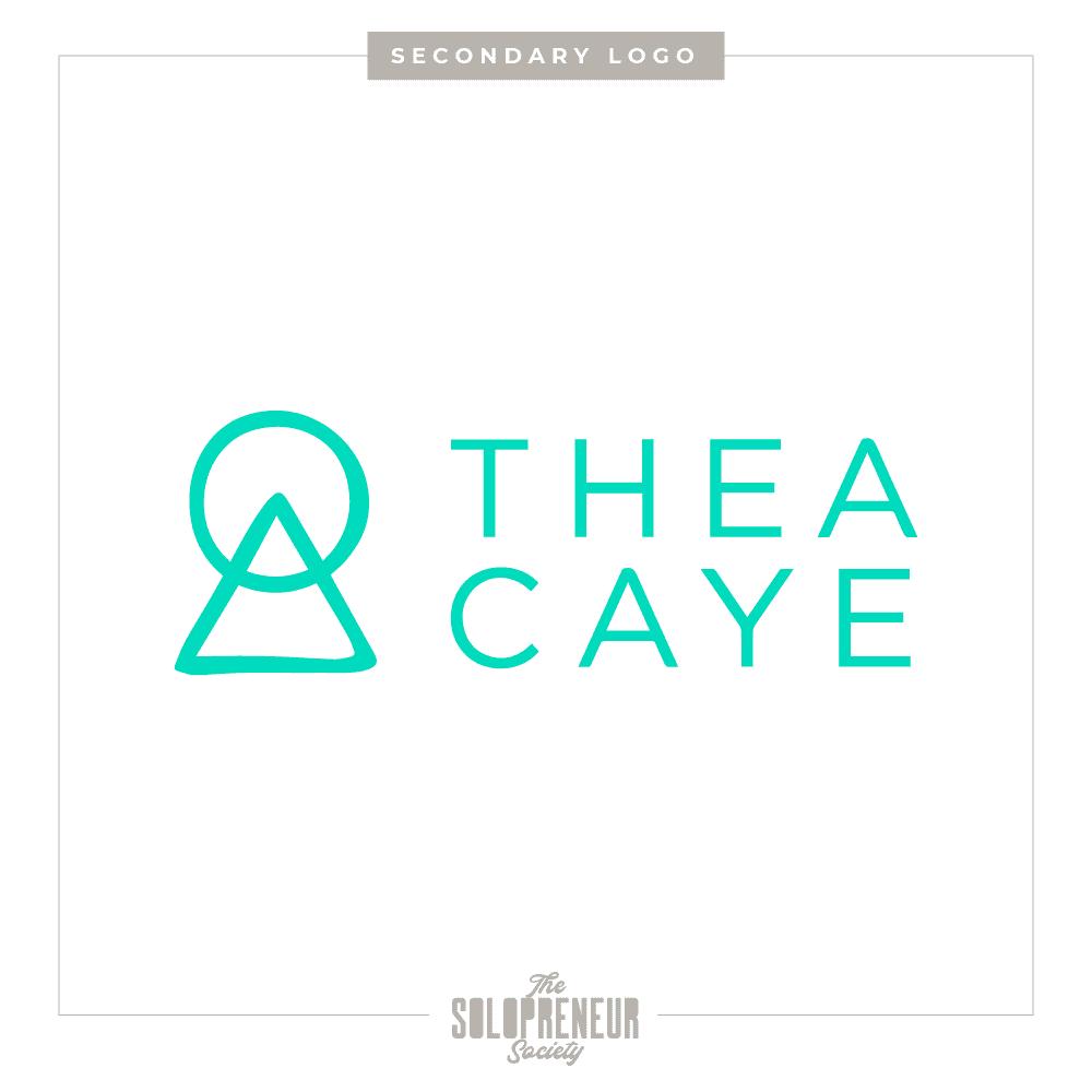 Thea Caye Secondary Logo