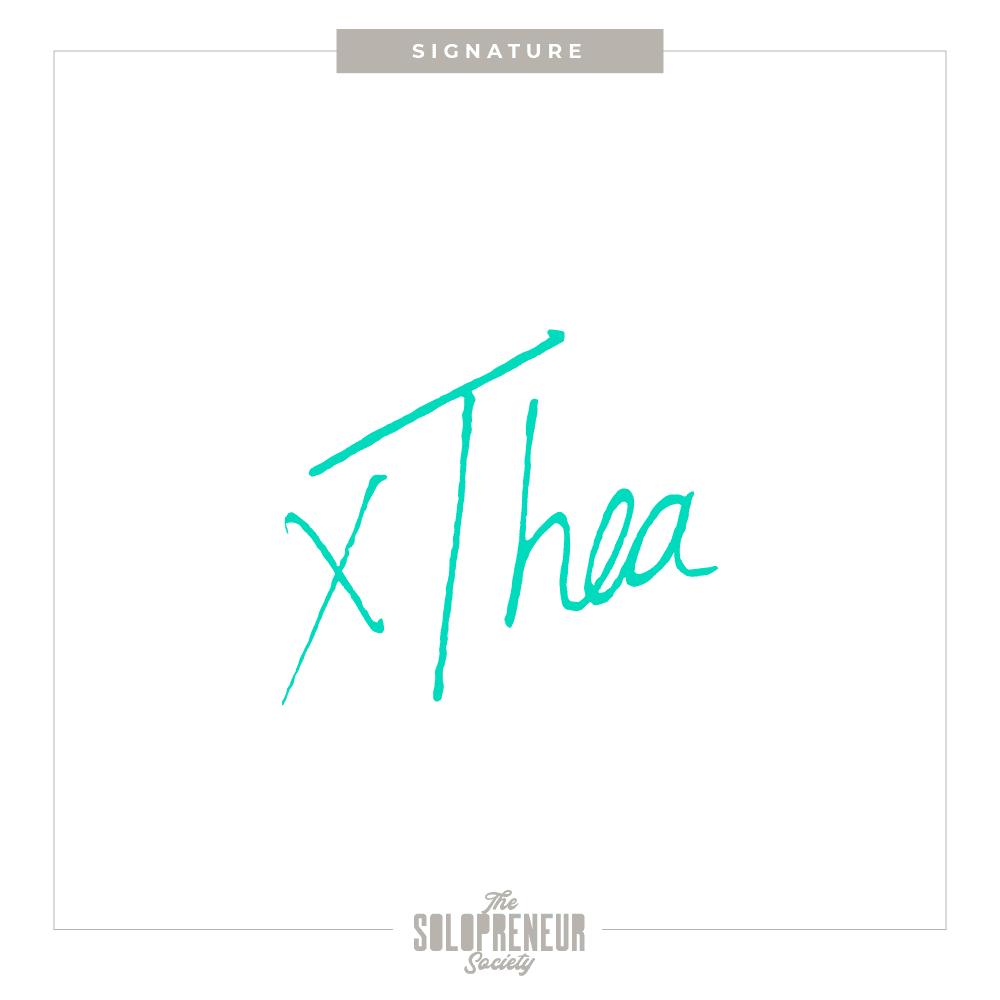 Thea Caye Signature